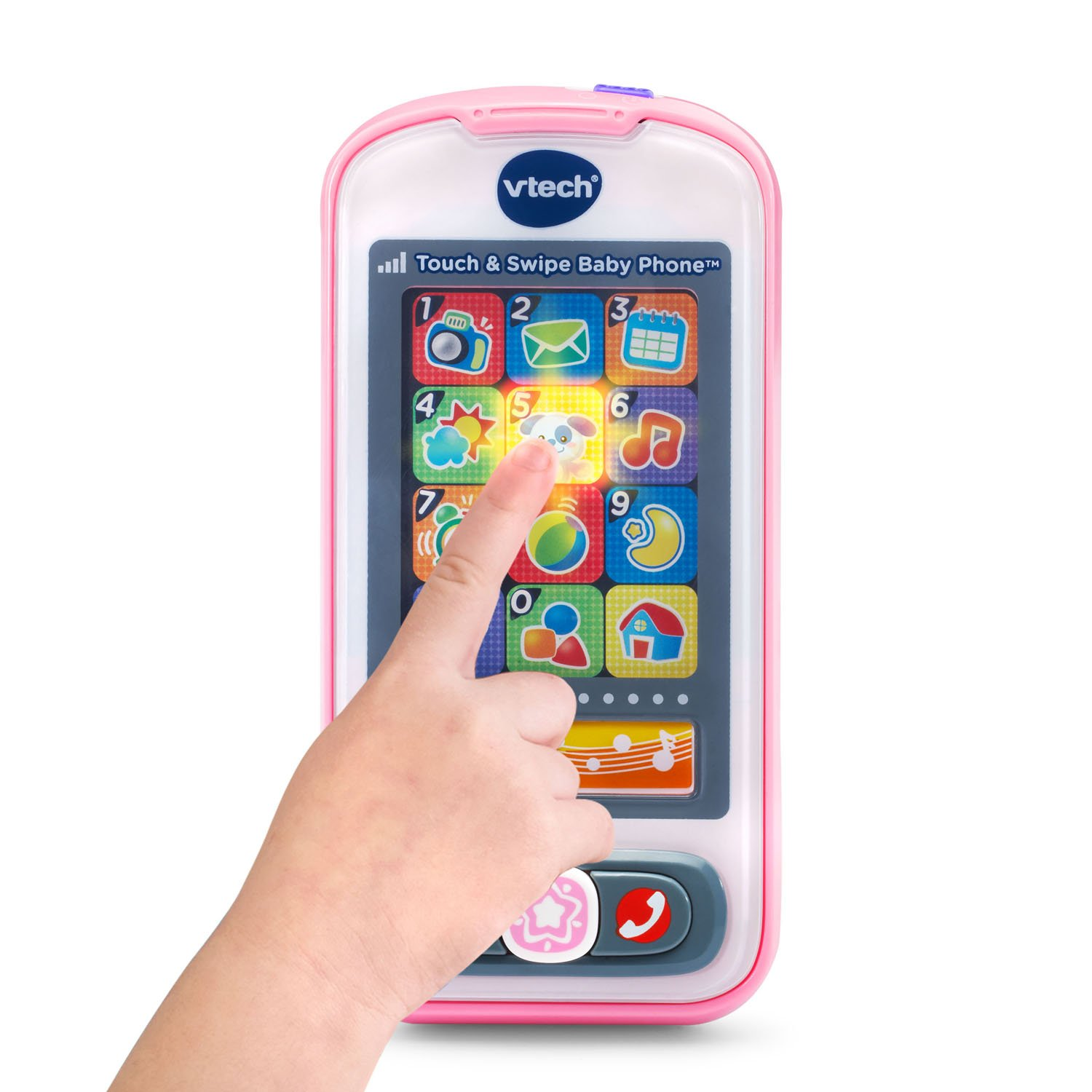 VTech Touch and Swipe Baby Phone, Pink by VTech (Image #2)