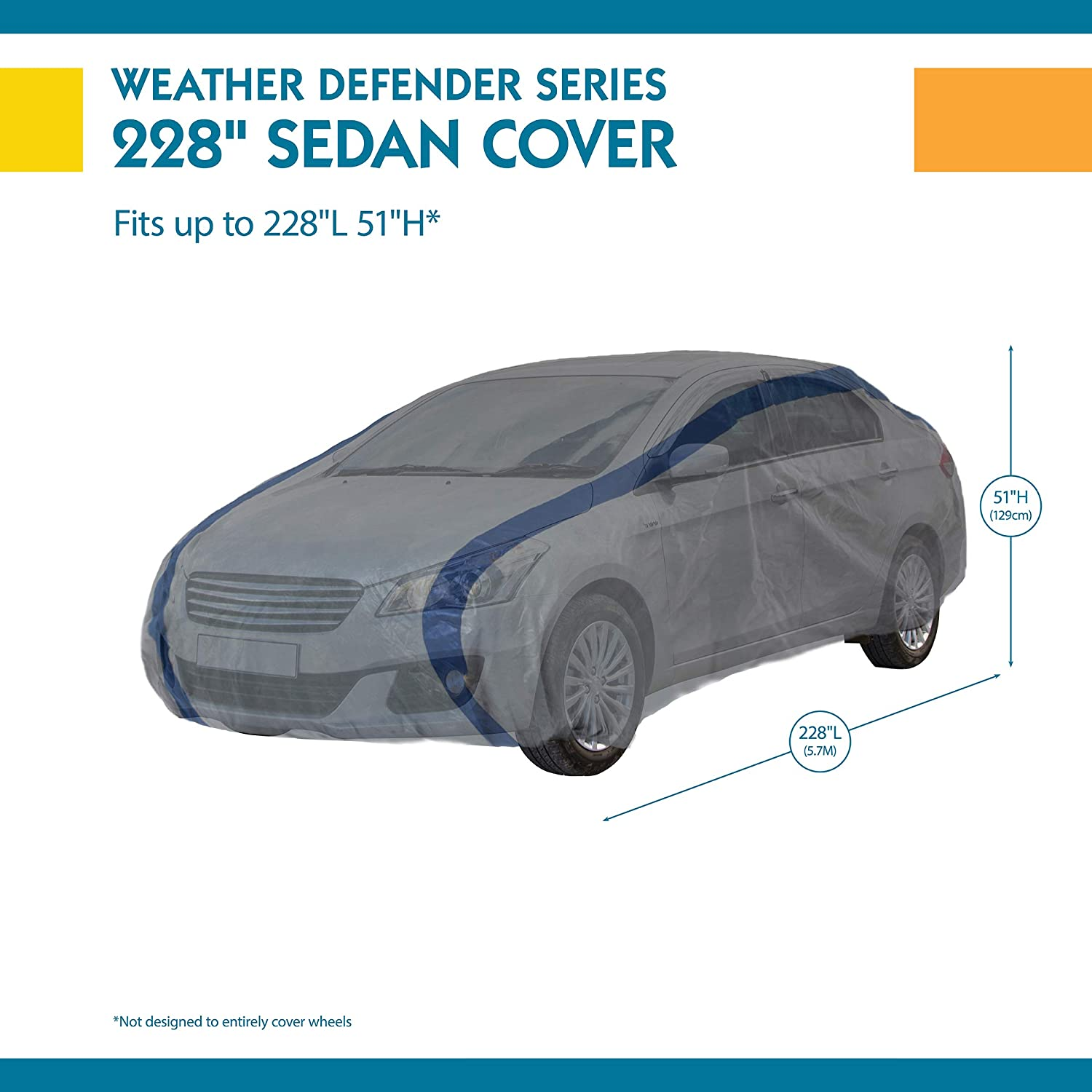 Custom Fit Duck Covers Weather Defender Car Cover for Sedans up to ...