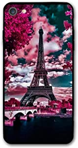 Effiel Tower France Case for iPhone 7/8 Cases, Drop Anti-Scratch Shockproof Slim Thin iPhone 7 Cover, iPhone 8 Case