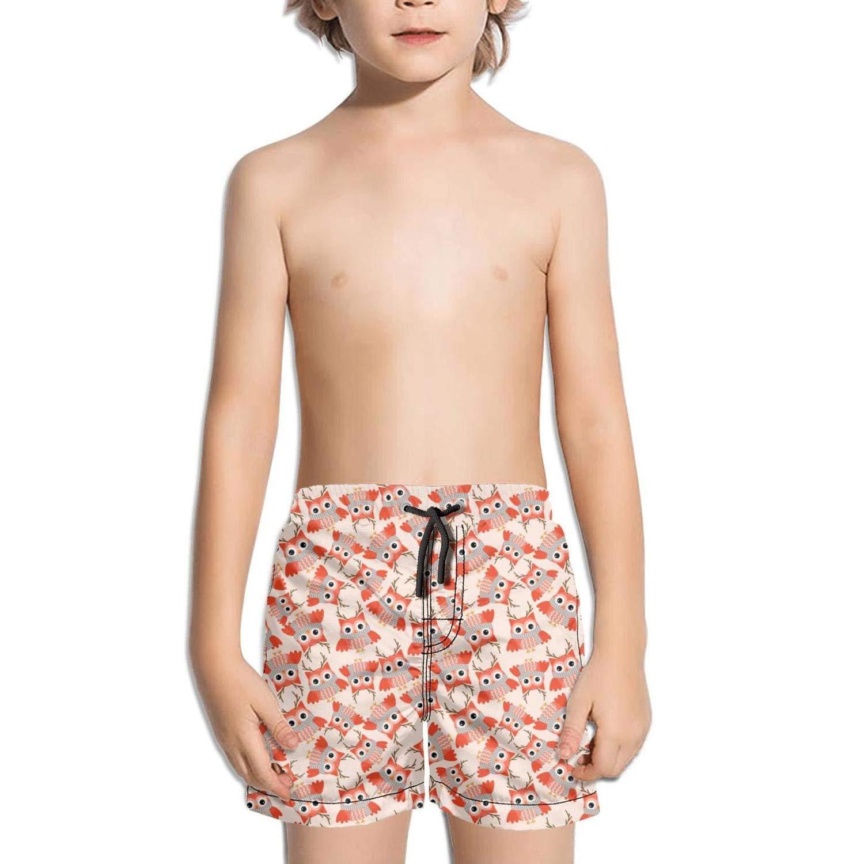 Mini Pink Owls Boys Board Shorts City Jogging