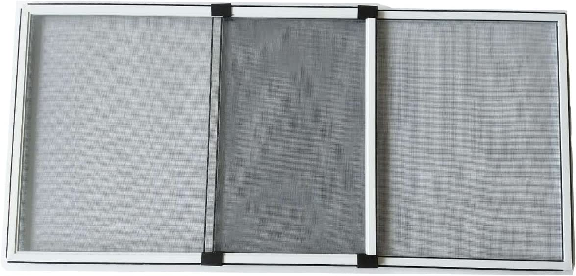 Flyzzz Adjustable Window Screen for Homes, Aluminum Alloy Ventilating Window Screen, Fits for Most Windows, Vinyl Double Hung Windows and Rolling Doors (9.84 Inches High by 12-24 Inches Wide, B)