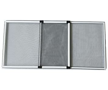 Flyzzz Adjustable Sliding Window Screen Aluminum Frame Anti Mosquito Window Screen for Rolling Doors and