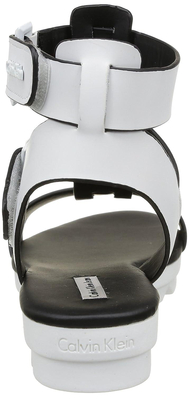 Calvin Klein Jeans Cameo, Damen Sandalen Weiß Blanc (Wht) 39