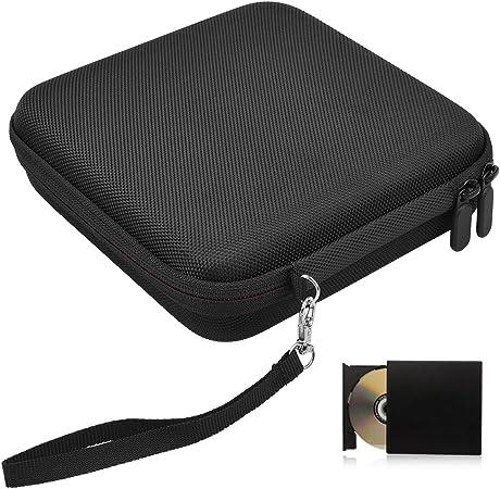 Hihey Estuche portátil para Almacenamiento de Viaje para grabadoras de BLU-Ray DVD USB externas para Unidades ópticas: Amazon.es: Hogar