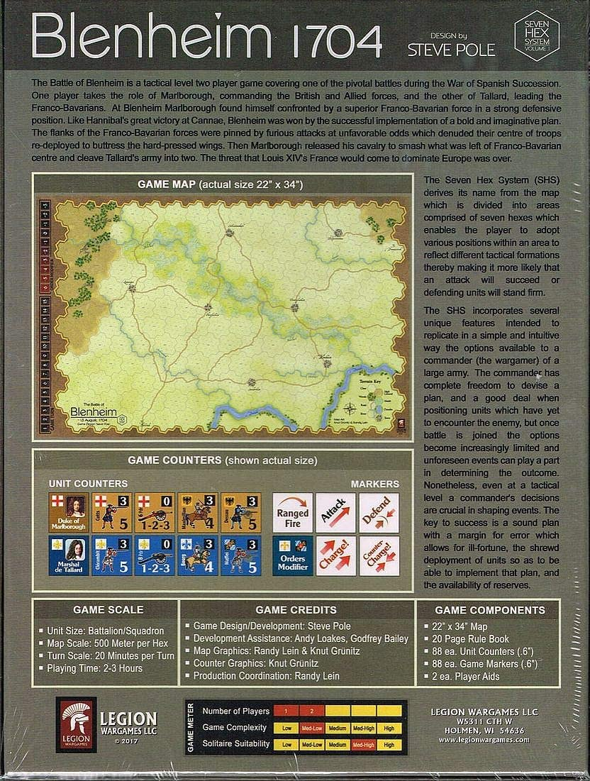 Tactical Wargame The Battle of Blenheim, 1704: Amazon.es: Juguetes y juegos