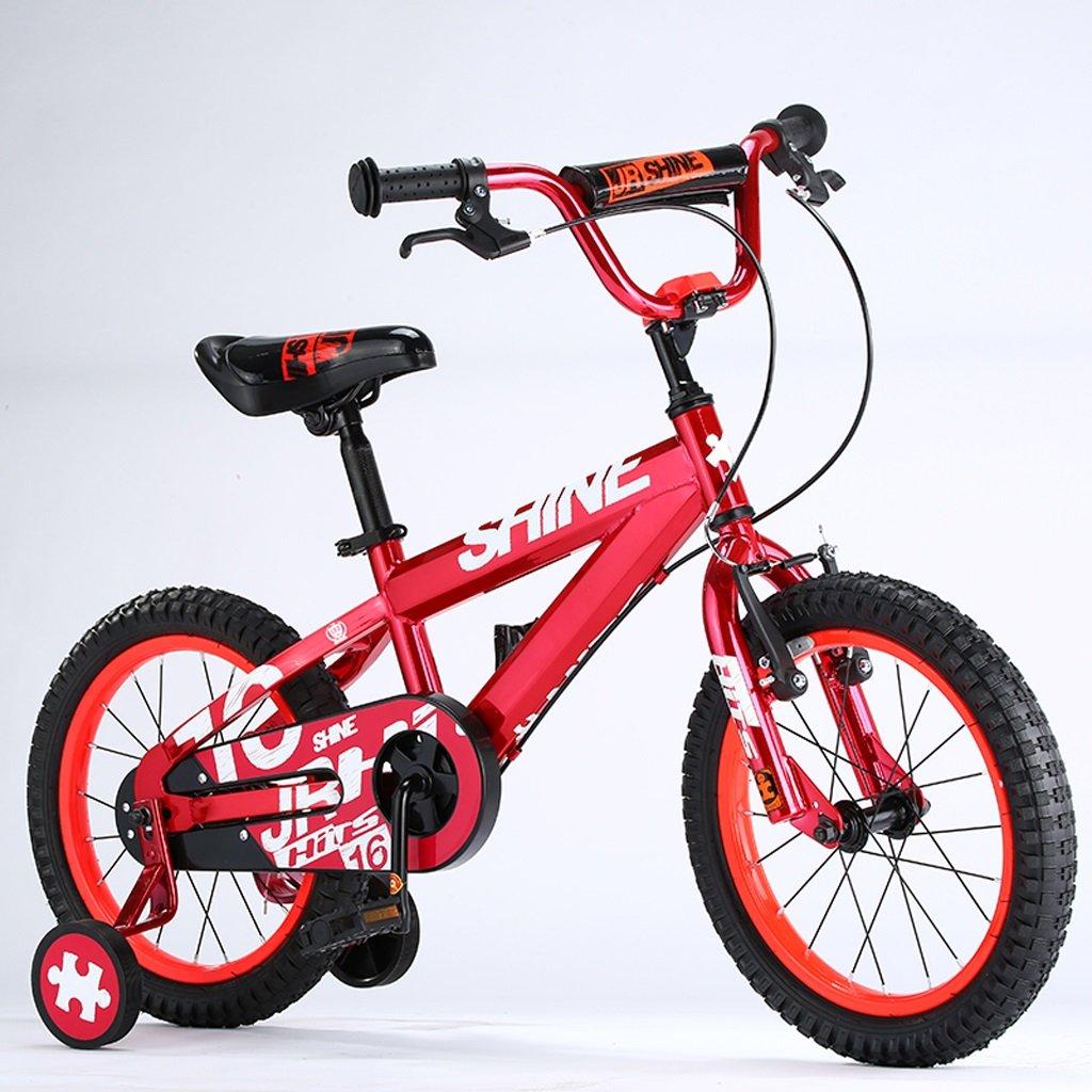Xiaoping Bicicletas para niños, Bicicletas para niños y niñas de 4 a 8 años, 16 pulgadas, para altura de 105-135 cm (Color : Red)