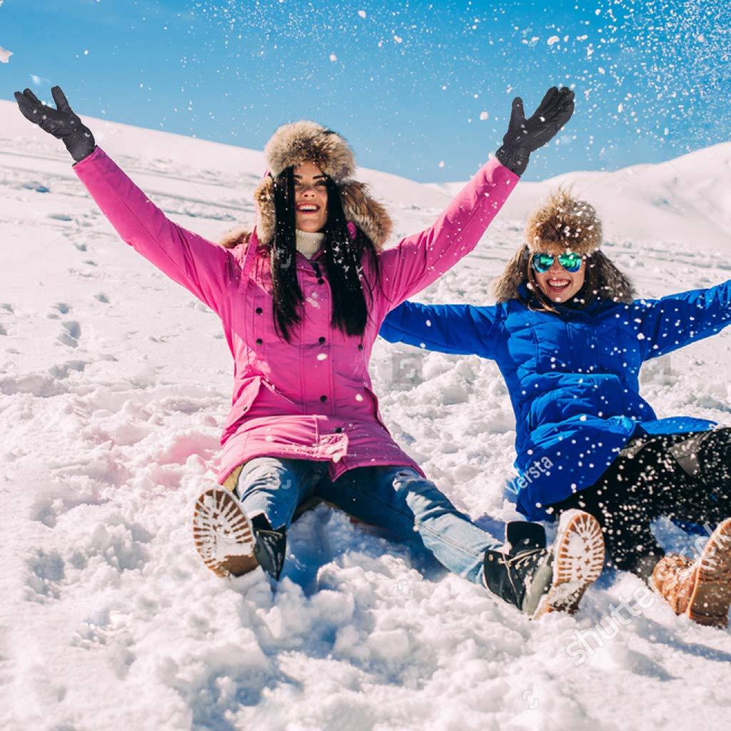 ENKEEO Skihandschuhe Winter Sporthandschuhe Schi Handschuhe Winddicht Wasserdicht Rutschfest Atmungsaktiv f/ür Damen und Herren
