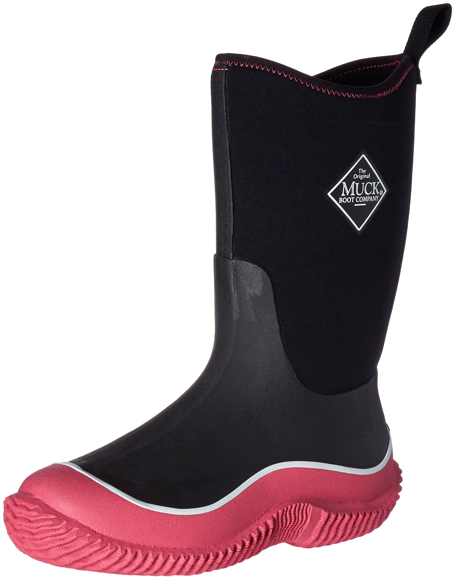 Muck Boots Hale Multi-Season Kids' Rubber Boot,Pink/Black,7 M US Big Kid