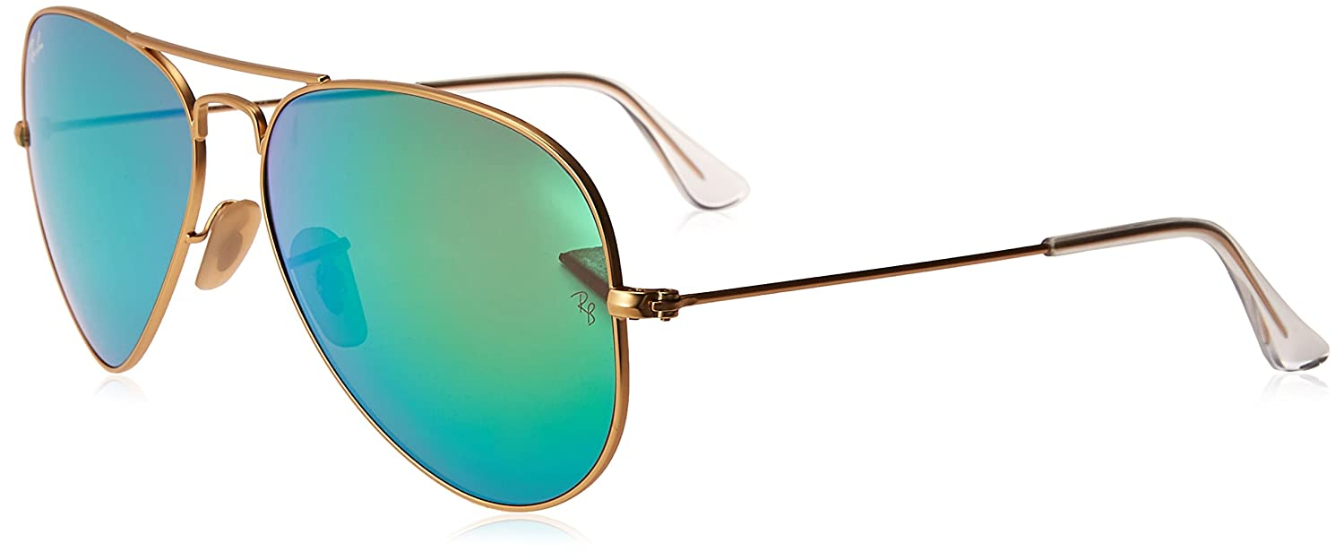6b62b75a774d Amazon.com  Ray-Ban RB3025 Polarized Mirror Aviator Sunglasses  Shoes