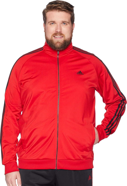 adidas Big and Tall Essentials 3 Stripes Jacket Grey | adidas US