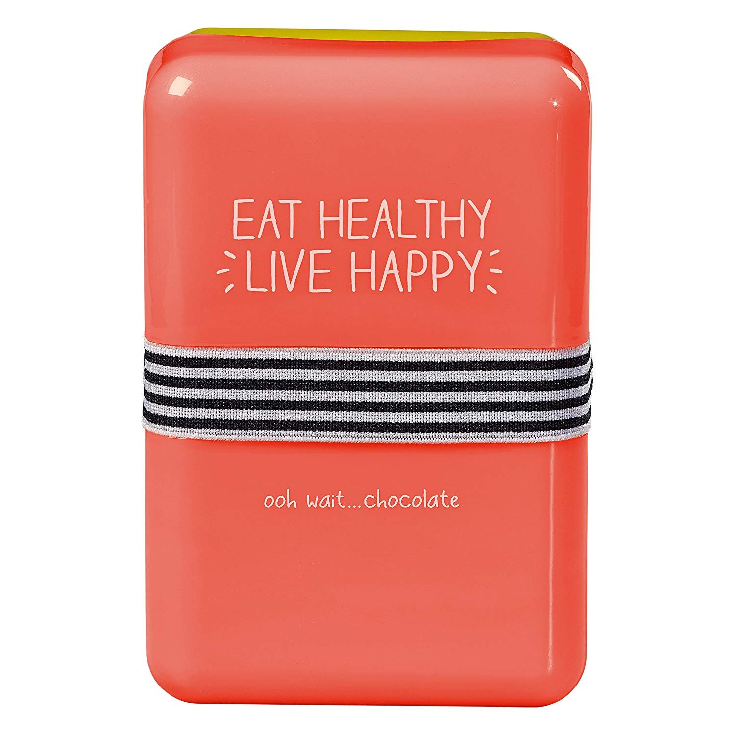 Happy Jackson 'Eat Healthy Live Happy' Lunch Box | Coral Wild and Wolf HAP156