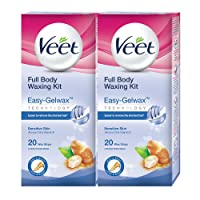 Veet Full Body Waxing Kit for Sensitive Skin - 20 Strips (Pack of 2)