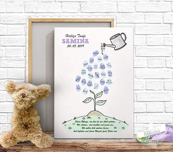 Gästebuch Fingerabdruck Bild Für Taufe Baby Shower Baby