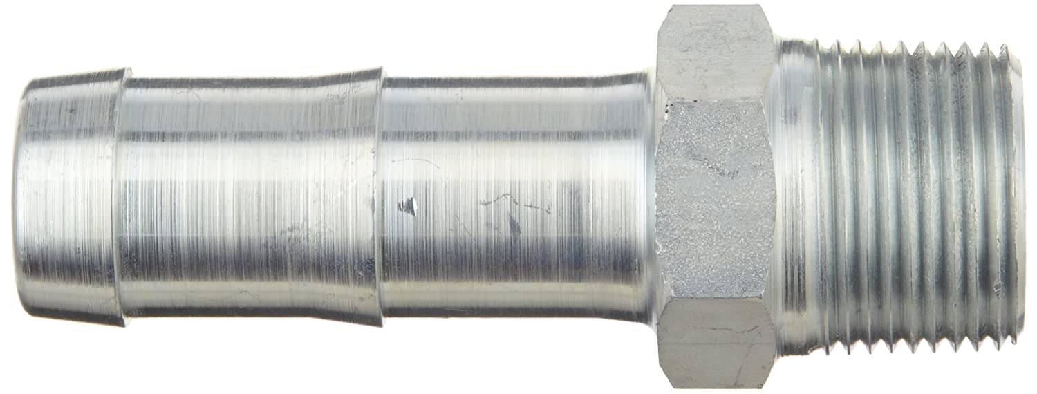 Hex Nipple 3//4 NPT Male x 1 Hose ID Barbed Dixon KHN862 King Plated Steel Shank//Water Fitting for Two Clamps
