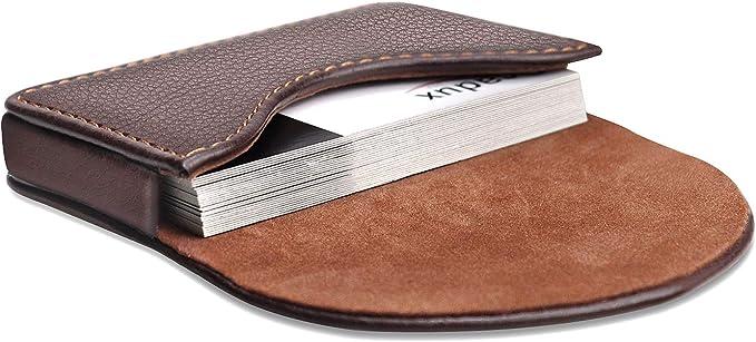 Leather Business Card Case EC Cards Case Card Card Case Card Case Card Sleeve Wallet Wallet Wallet Wallet Pull-up cognac jerez