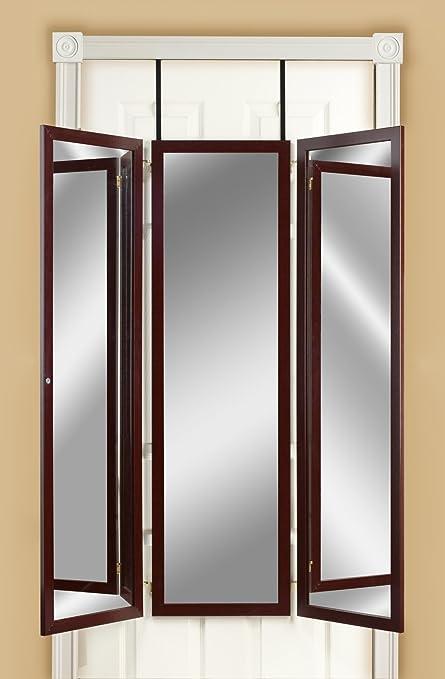 Wonderful Amazon.com: Mirrotek 3VU1448CH Triple View Professional Over The Door  Dressing Mirror With 4 Mirrors, Cherry: Home U0026 Kitchen