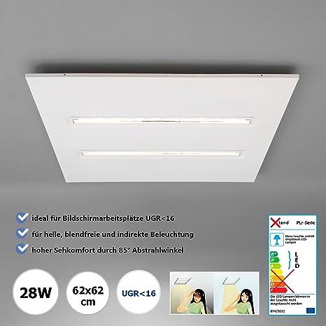 LED Oficina plafón neutralweiß 62 x 62 cm 28 W ...