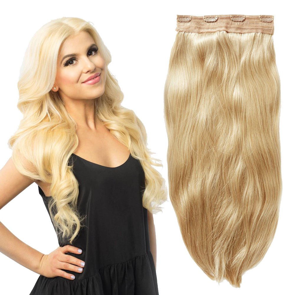 Yonna 1 Piece Clip In Hair Extensions Platinum Blonde Color 613