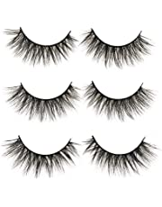 b1b97361d95 3D False Eyelashes Long Thick Dramatic Look Handmade Fake Eye Lashes Makeup  Extension 3 Pair Pack
