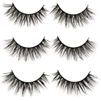 3D False Eyelashes Long Thick Dramatic Look Handmade Fake Eye Lashes Makeup Extension 3 Pair Pack(3D-15)
