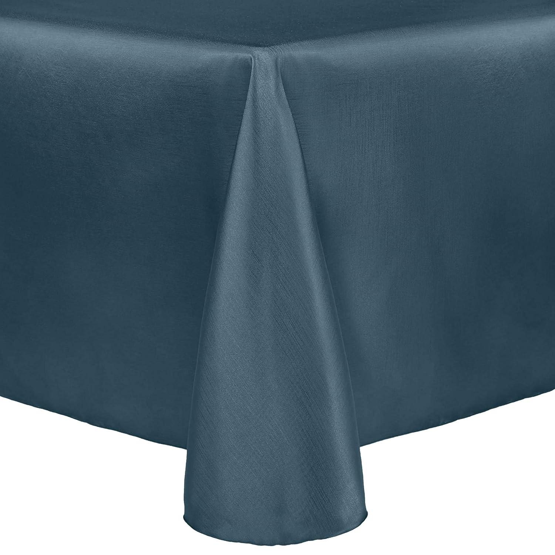 Ultimate Textile リバーシブル シャンタン サテン - マジェスティック 120 x 120インチ 正方形テーブルクロス 5 Pack ブルー 5PKU-120X120-153   B07K8VWRHD