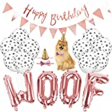Dorakitten Pet Party Balloons,16pcs Birthday Party Supplies Set for Dog Cat,WOOF Letter Paw Print Balloons Dog Birthday…