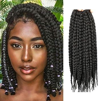 Amazoncom 12 Inch 12 Strands Crochet Box Braids Hair Synthetic