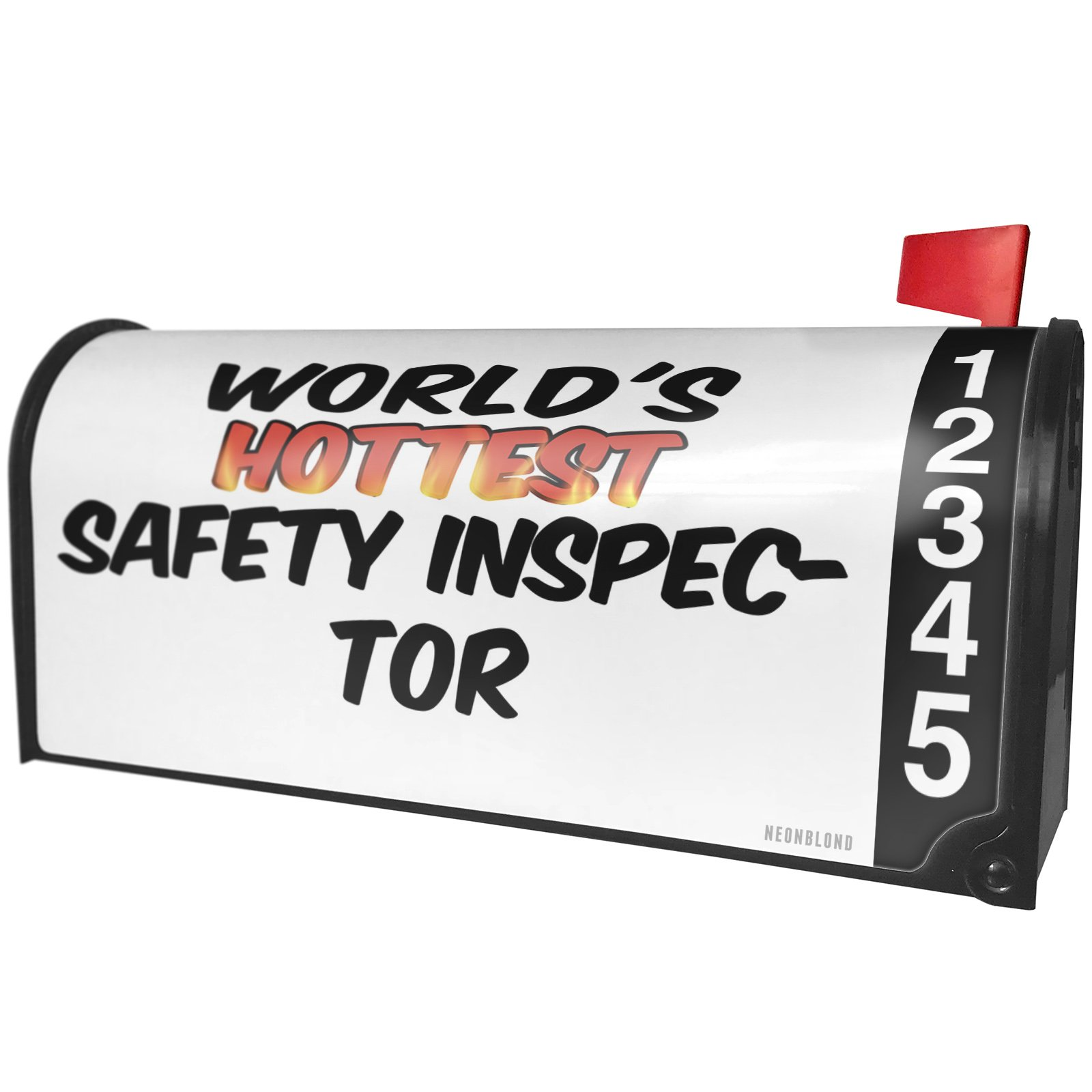 NEONBLOND Worlds hottest Safety Inspector Magnetic Mailbox Cover Custom Numbers