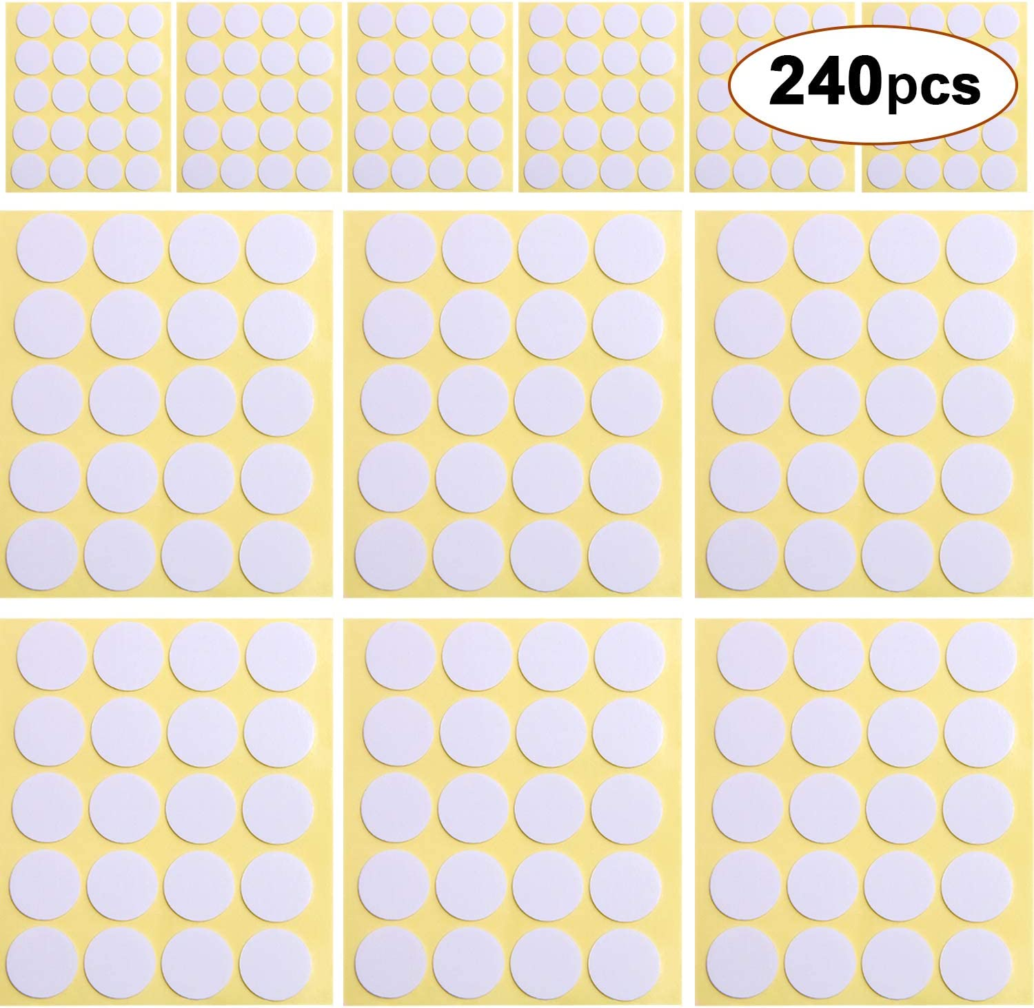 240pcs Candle Wick Stickers Heat Resistance Candle Making Double-Sided Stickers