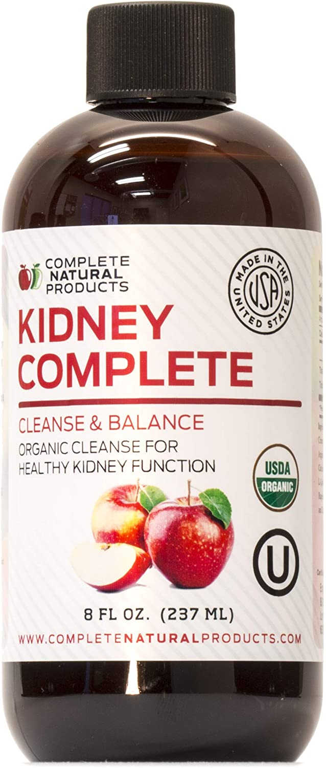 Amazon Com Kidney Complete 8oz Organic Kidney Support Liquid Kidney Supplement Natural Kidney Stones Dissolver Cleanse Health Personal Care