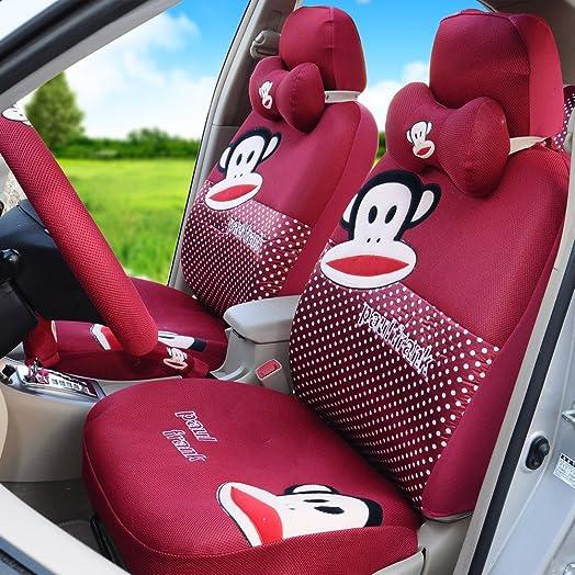 18pcs Summer Car Seat Covers Universal Cartoon Car Seat Covers