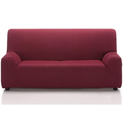 Jarrous Funda de Sofá Elástica Modelo Arucas, Color Rojo-5, Medida 1 Plaza – 70-110cm