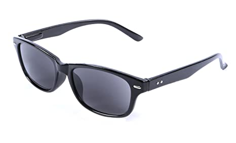 +1.50 Black Reading Sunglasses Tinted Sun Readers Glasses Flex Temples 100/% UV400 Tinted Smoke Black Lens Mens Womens Retro Classic I-Sential Hard Case /& Cloth