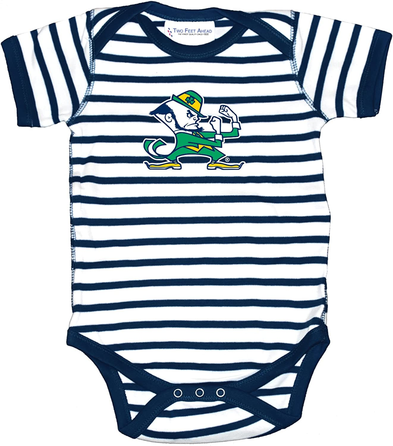 Notre Dame Fighting Irish Two Tone Football NCAA College Newborn Infant Baby Creeper