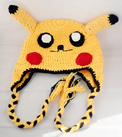 Amazon Crochet Baby Pikachu Pokeman Hat In Yellow Color 3 12