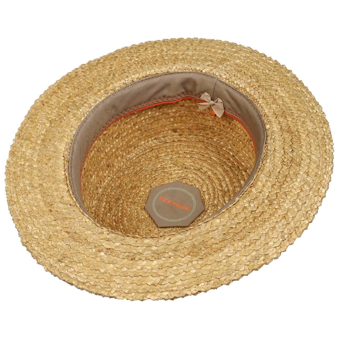 Stetson Vintage Wheat Boater Straw Hat Women//Men