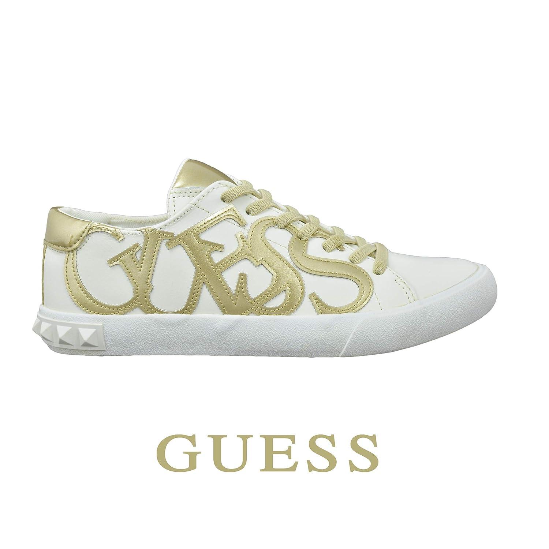 Guess Sneakers Kids in Pelle Bambina e Ragazza White Bianche