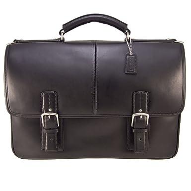 ba6c70fb9e Amazon.com: Coach 6455 Thompson Leather Laptop Briefcase, Black: Shoes