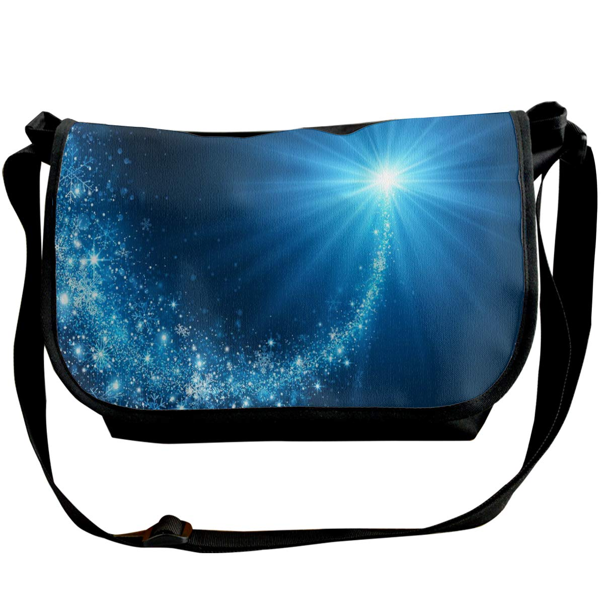 Taslilye Christmas Star Vector Image Customized Wide Crossbody Shoulder Bag For Men And Women For Daily Work Or Travel