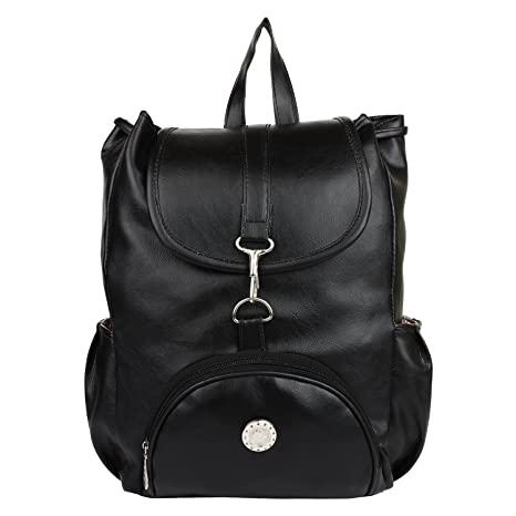 d56d059f2e9e TrendCreations Leather Black Girl s Backpack  Amazon.in  Bags ...