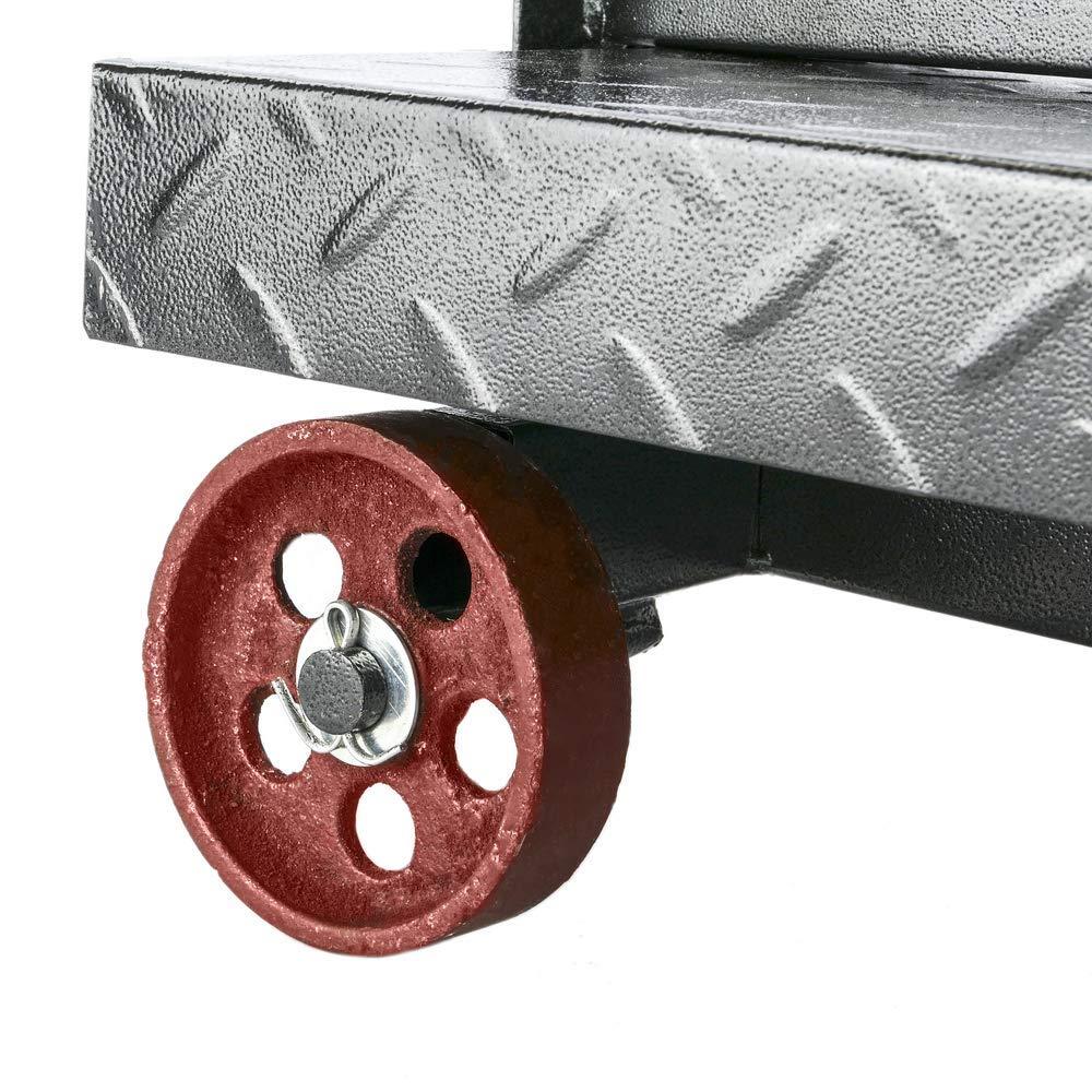 Balanza Industrial de Plataforma 30x40 cm b/áscula 100 Kg con Ruedas PrimeMatik