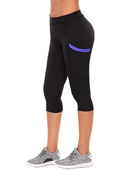 8f23d707fc7e9 Amazon.com : eshion Women's Yoga Workout Capris Jogger Leggings Activewear  Pants Sport Training Tights Side Pocket for Mobile Phone : Clothing