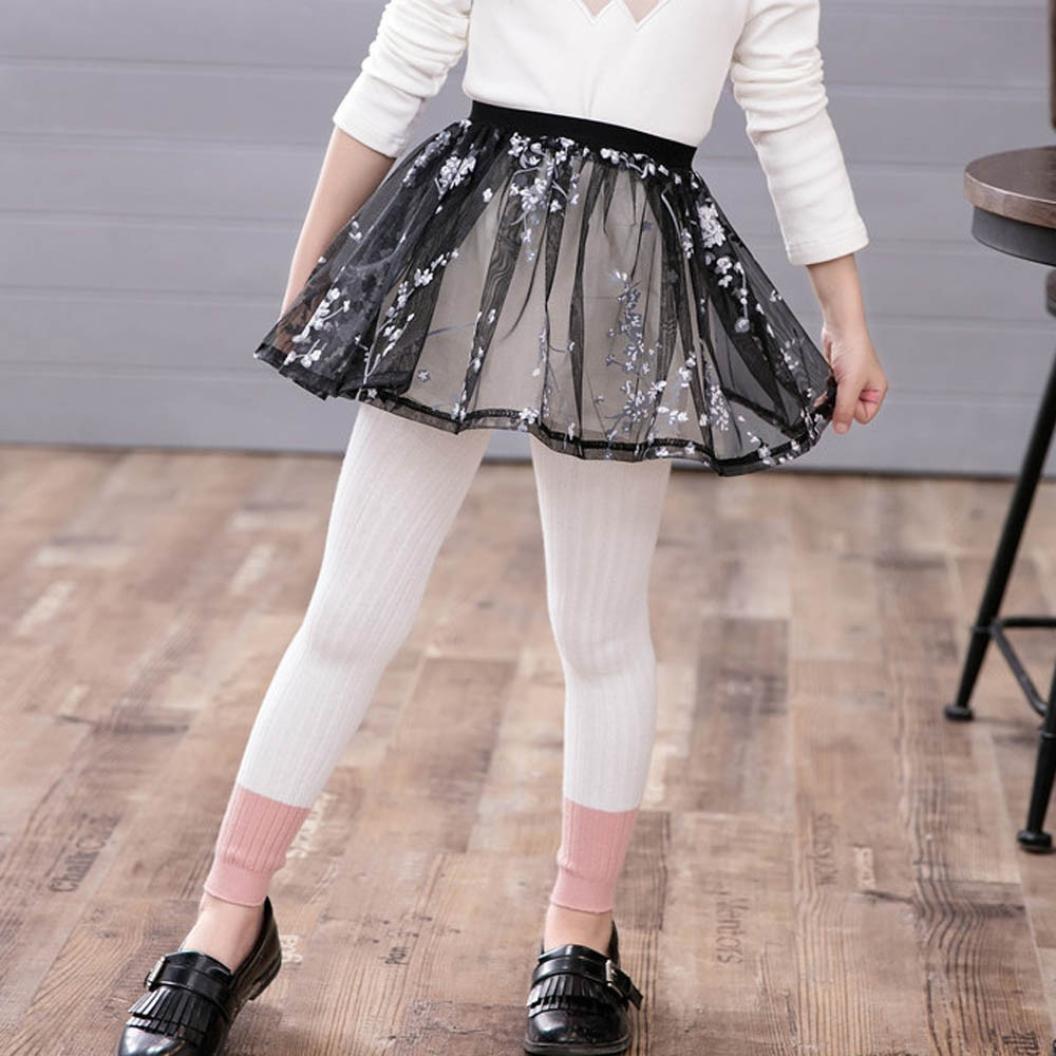 Yoyorule Kids Baby Girls Warm Autumn Winter Cake Skirt Culottes Leggings Pants