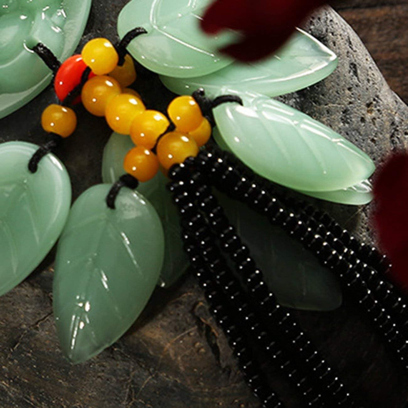 JIUY Auto Supplies New Pixiu Pendant Green Jade Lotus Gourd Creative Car Rearview Mirror Pendant Car Interior Decoration brave troops