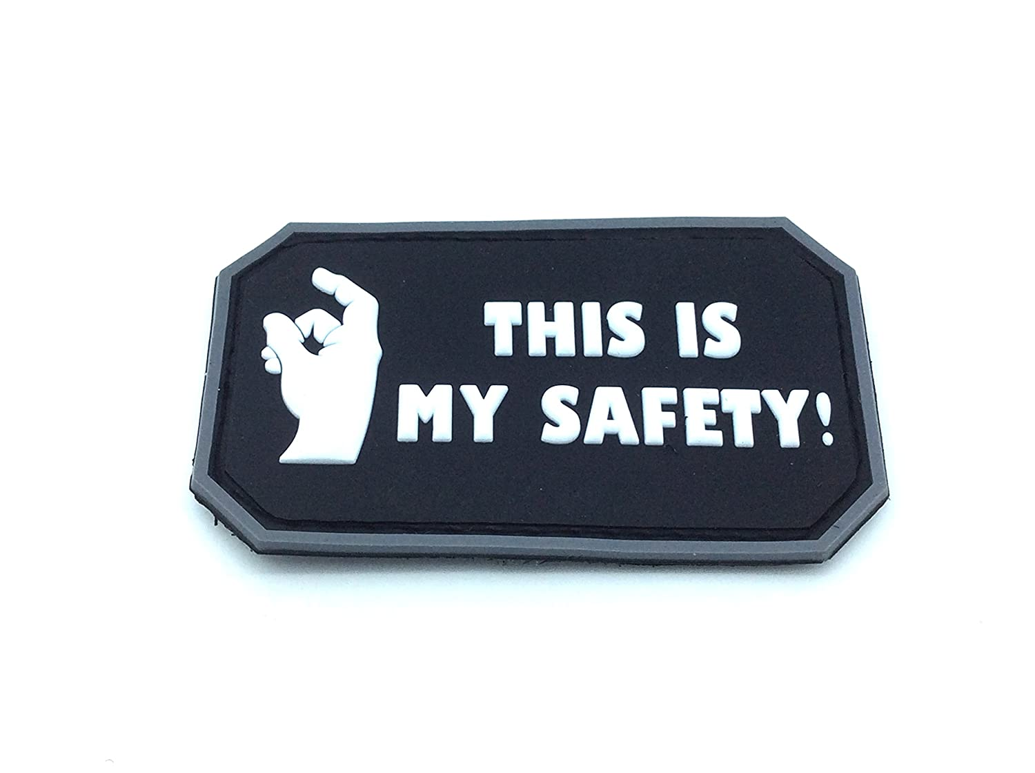 This Is My Safety Blackhawk Down Negro PVC Patch Velcro Airsoft Patch Nation
