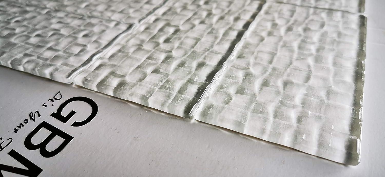 Abolos 3 x 6 Olive Green Glass Subway Cube Texture Backsplash Wall Tile