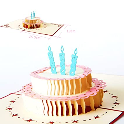 Amazon Com Dreamen Birthday Card By Pop Up Cards Craft 3d Greeting