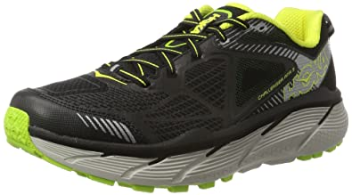HOKA ONE ONE Challenger ATR 3 Running Shoes - Black/Citrus - Mens - 8