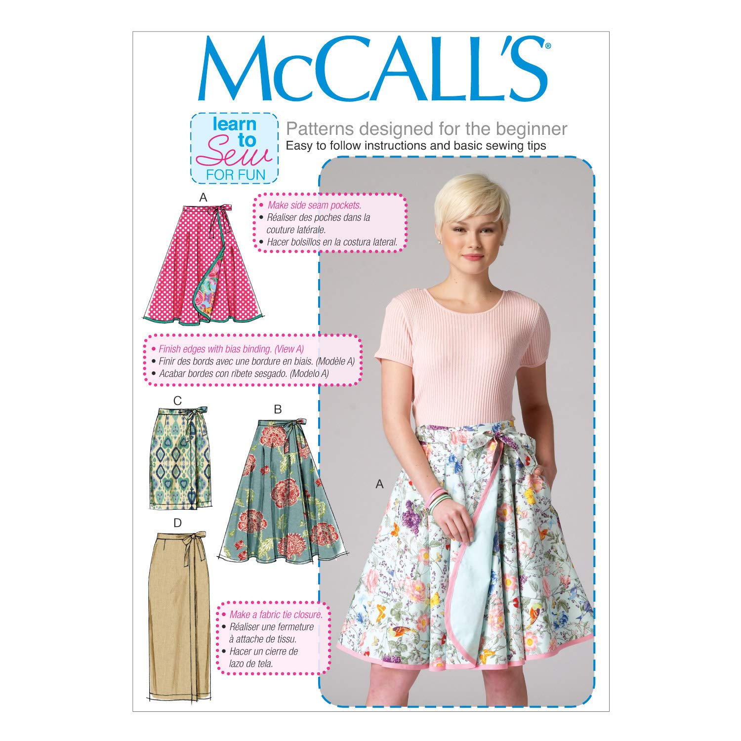 Amazon.com: McCall\'s Patterns M7129 Misses\' Skirts, Size B5 (8-10-12 ...