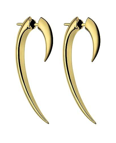 shaun leane women s yellow gold vermeil hook earrings size 1